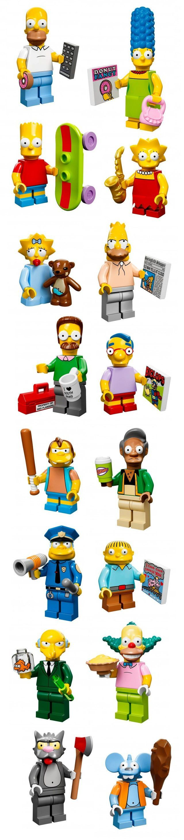 Figurines Lego série 13 : les Simpsons