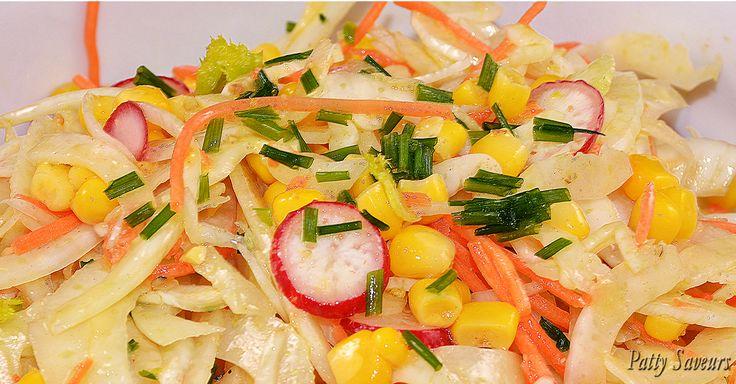 Une délicieuse salade, bien relevée, un plat complet sain et basses calories. Les propriétés digestives du fenouil sont bien connues.