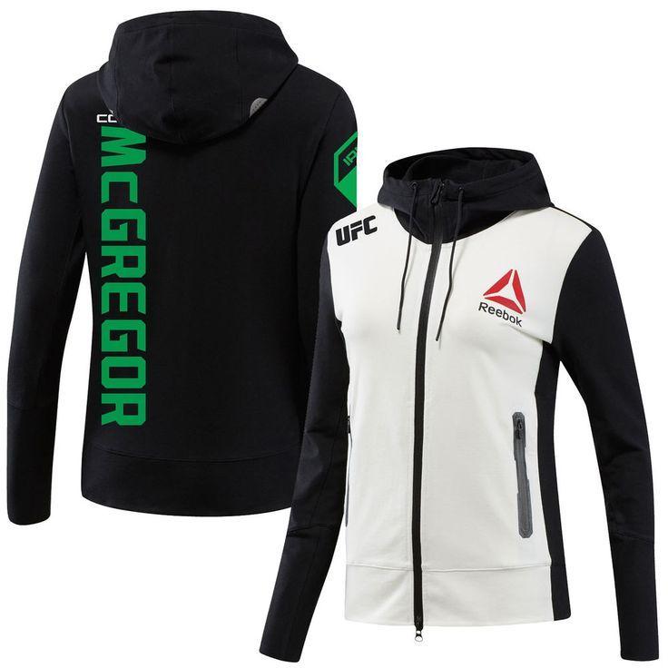 Reebok Conor McGregor UFC Women's Black/White Fight Night Walkouot Hoodie