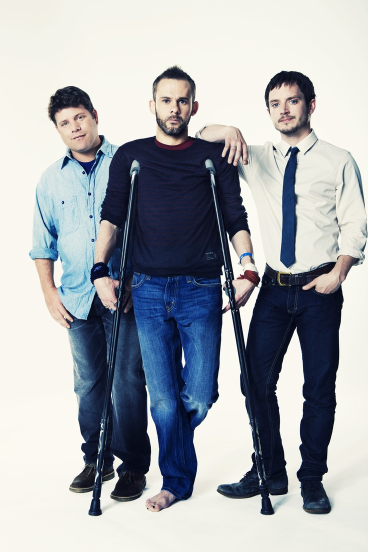 Lord of the Rings Reunion. Empire 2010 (Sean Astin, Dominic Monaghan and Elijah Wood)