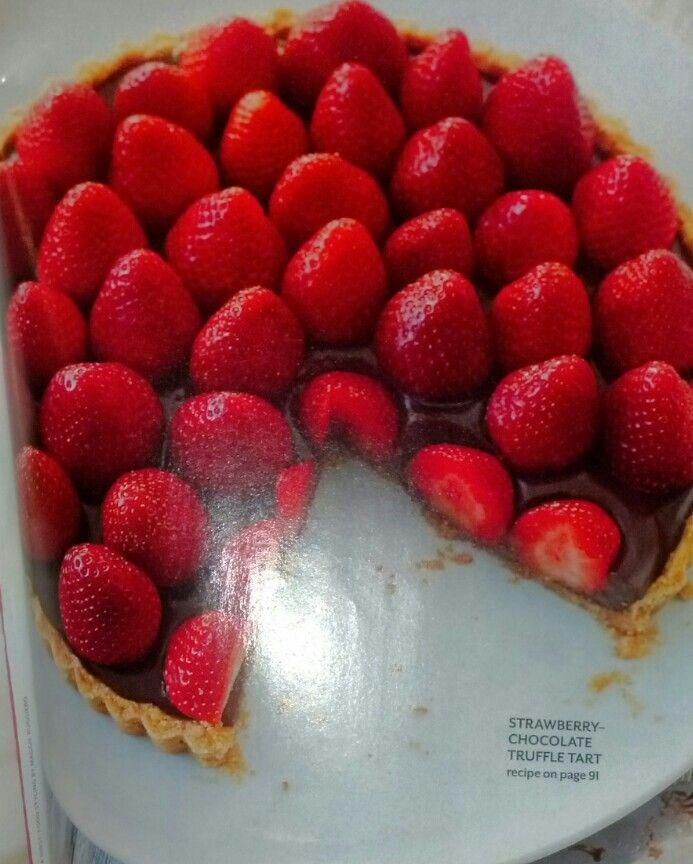melted dark chocolate & strawberries. Maybe drizzle white chocolate ...