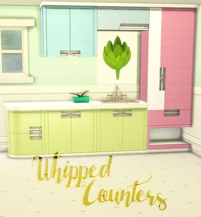 My Sims 4 Blog: Objects - Kitchen Recolors