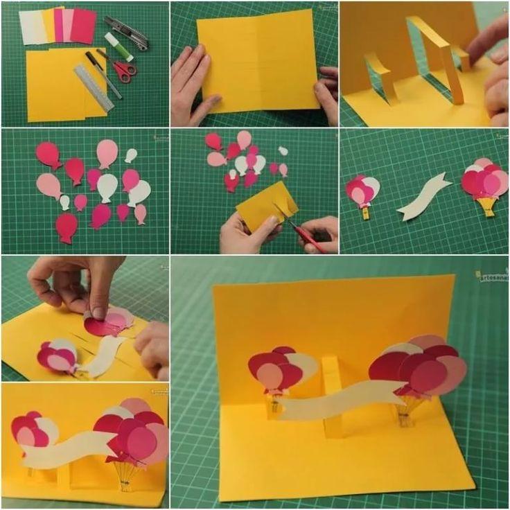 Прикольные, видео как сделать открытку на день рождения своими руками