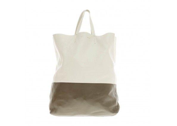 celine khaki leather handbag cabas
