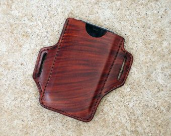 Handmade Leather iPhone Holster Case iPhone by LJamesThieman