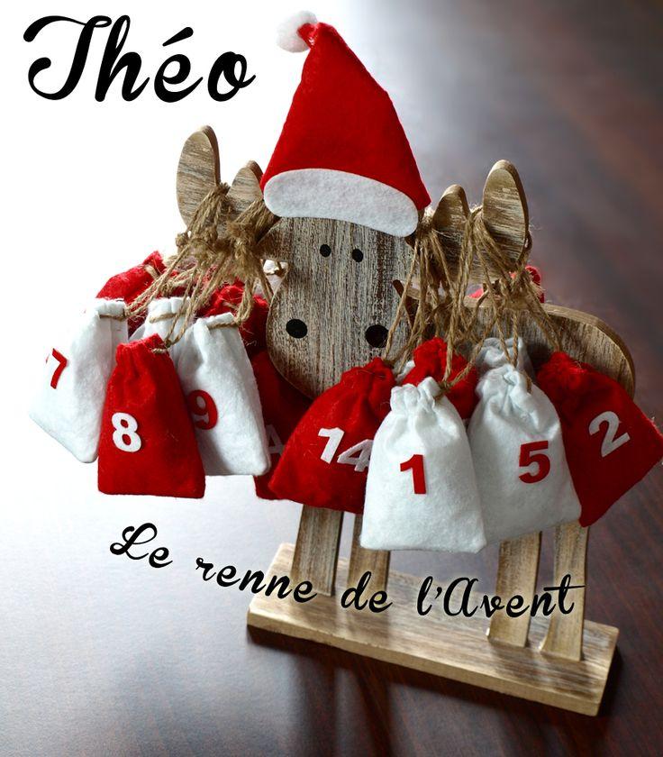 Théo, le renne calendrier de l'Avent #DIY