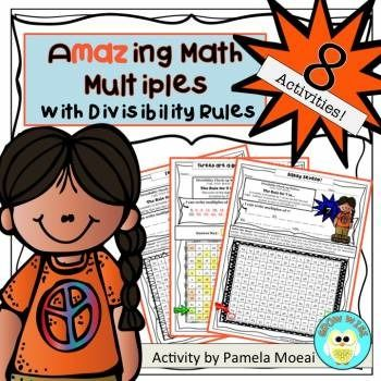 Your students will love figuring out these eight , challenging, basic math multiples maze worksheets!  #2-9!  Fun!  Engaging!  #multiples #divisibility rules #math