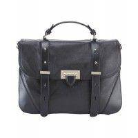 Aspinal of London Ladies' Letterbox Mollie Satchel – Smooth Black - Ladies' Designer Bags - Ladies | Country Attire