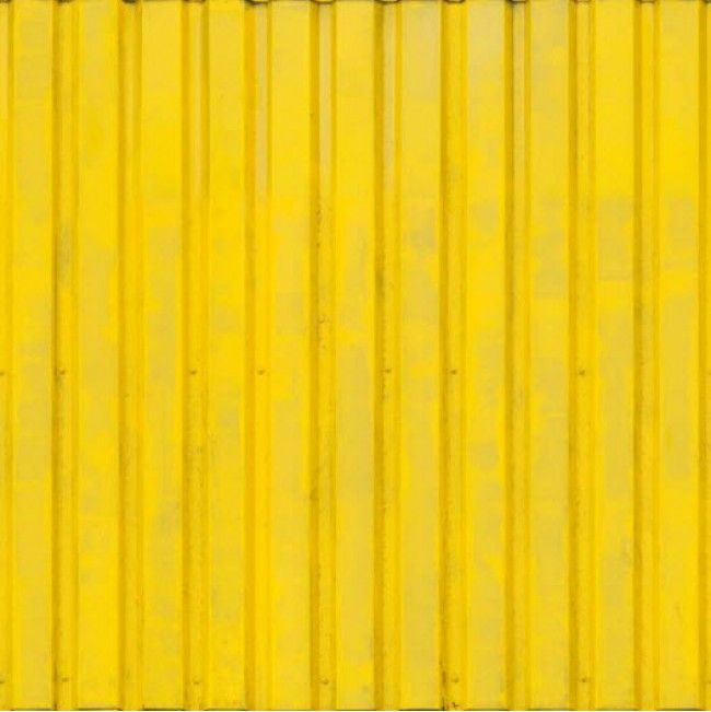 Designer Yellow Painted Metal Decor High Quality Removable Wall Mural