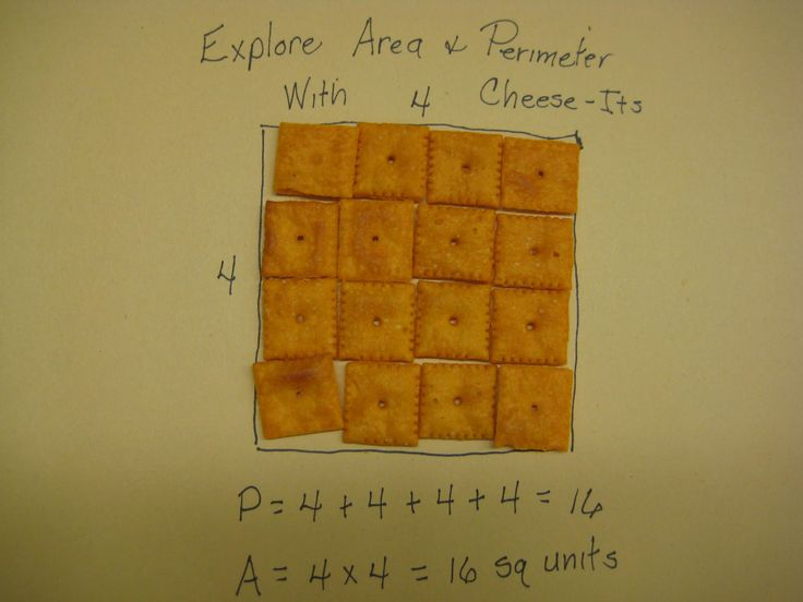 Area and perimeter with Cheez-Its!: Grade Math, Perimeter Anchor Chart, Math Lesson, Area And Perimeter, Cheez It, Area Lesson, Area Anchor Chart, Multiplication Anchor Chart, Math Idea