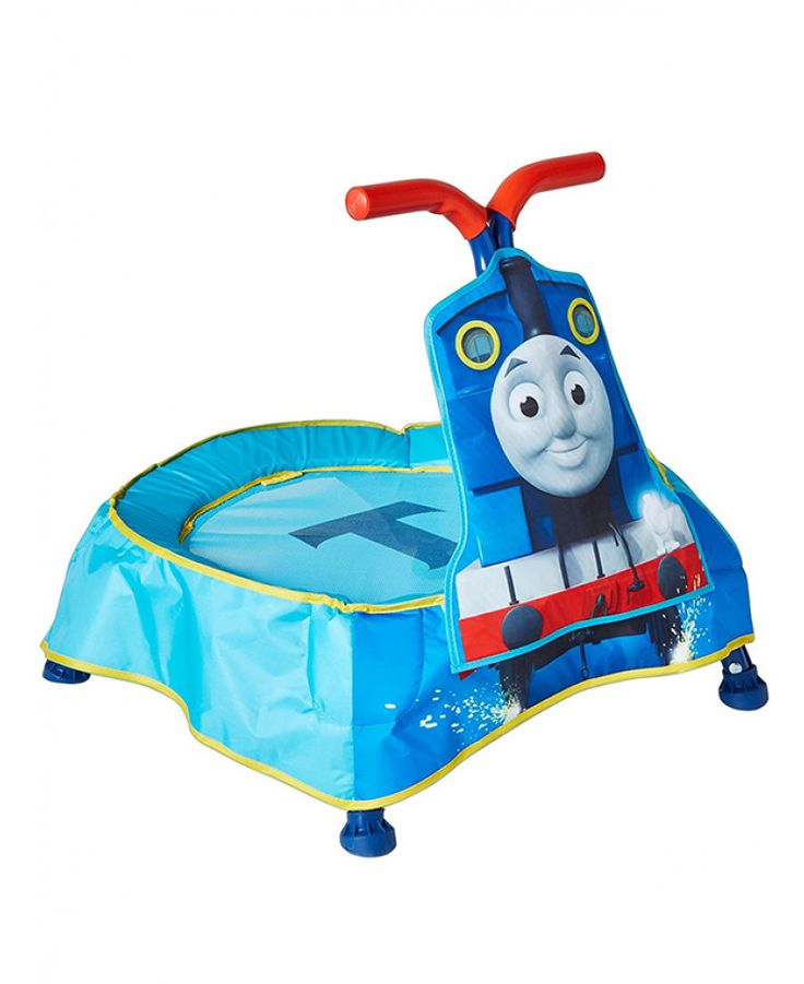 This Thomas the Tank Engine & Friends Toddler Trampoline has 3 fun sound effects as well as easy grip handles and padded sides. Free UK delivery available