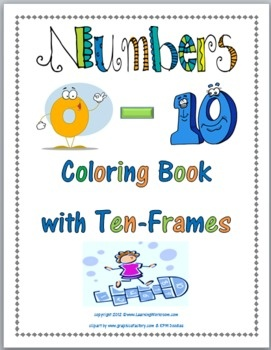 Numbers 0 - 10 Coloring Book with Ten-Frames