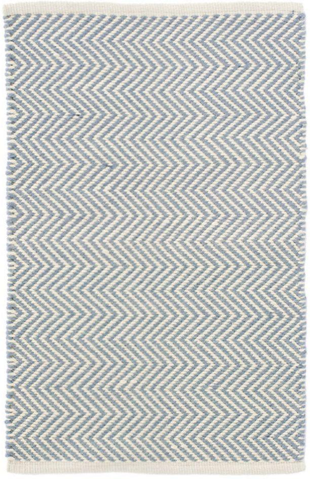 Arlington Swedish Blue & Ivory Indoor/Outdoor Rug design by Dash & Albert