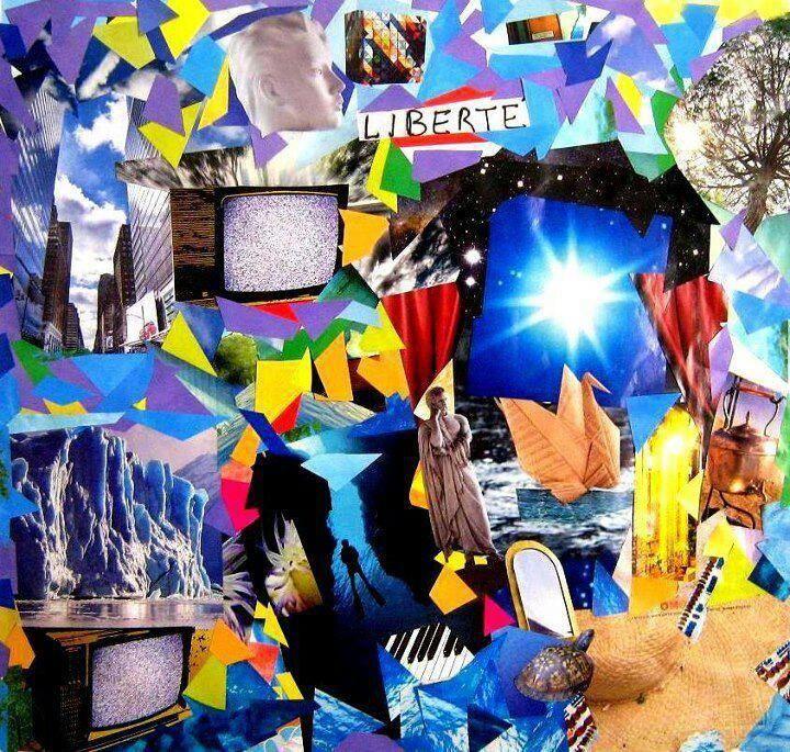 "2012--""Past times""-collage on camvas"