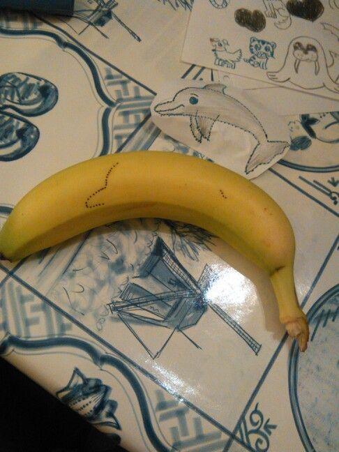 Punt opdracht bananen tattoo