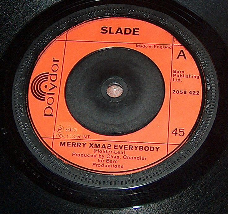 SLADE  MERRY XMAS EVERYBODY b/w DON T BLAME ME  NODDY HOLDER  45 rpm single ~~