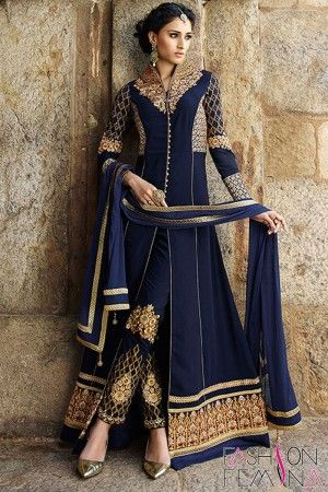 Latest Fashion Achkan Style wedding Special Salwar Suit  http://www.fashionfemina.com/catalogs/miraculous-wedding-special-salwar-suit-collection/ #party wear salwar suit, #anarkali suit #designer Suit #wedding collection #heavy salwar suit #embroidery salwar suit #women dresses #latest fashion suit #wedding 2016 salwar suit
