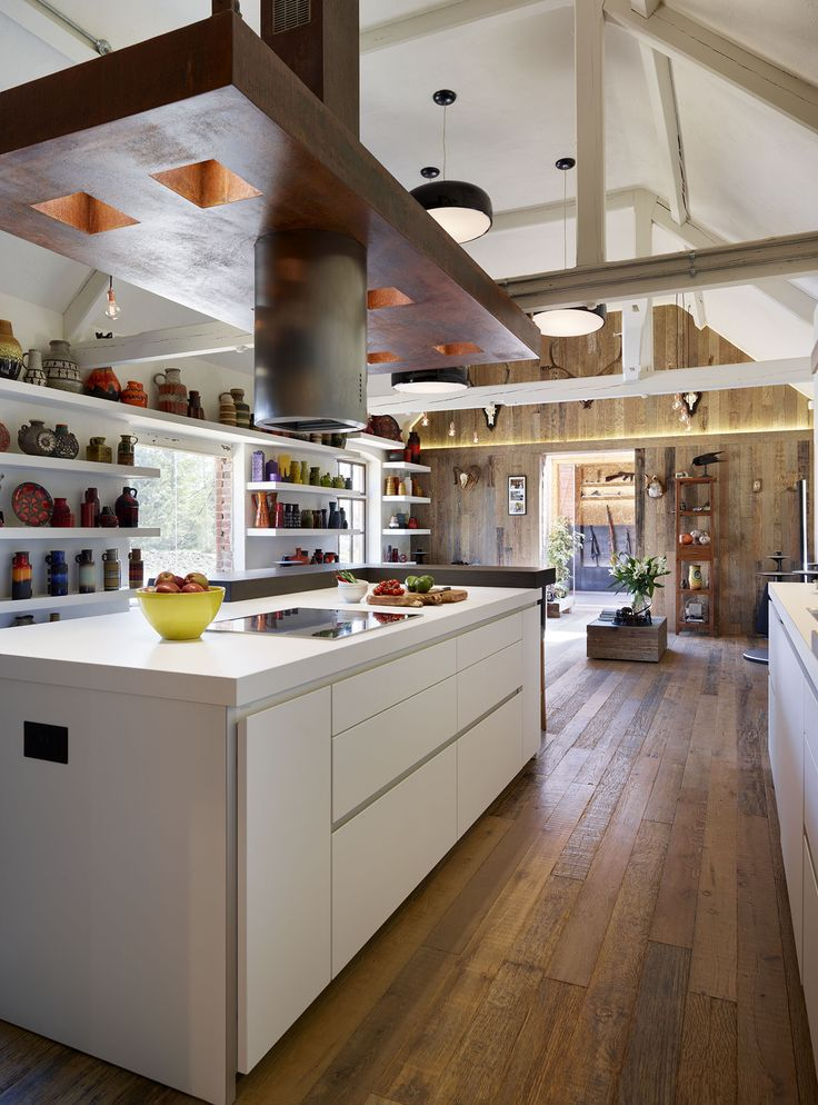 bulthaup kitchen blends into the livingspace to create a truly social, open plan environment.