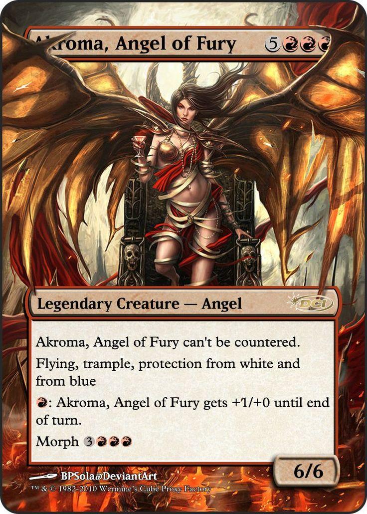 Magic The Gathering Akroma, Angel of Fury Proxy