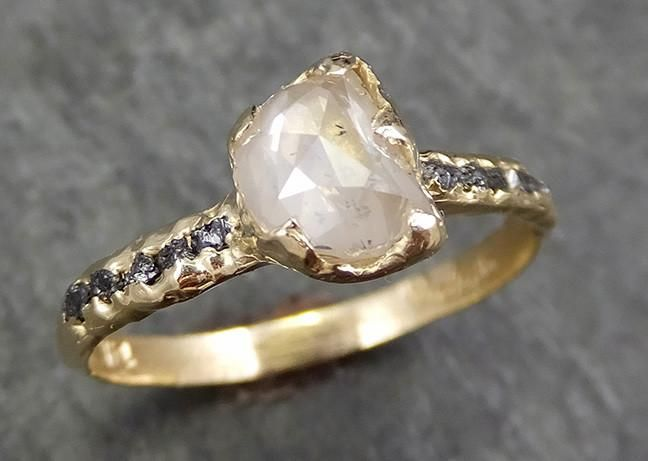 Teardroprose Gold Engagement Rings
