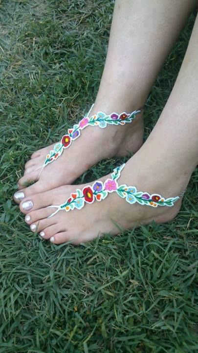 Hungarian embroidery motif sandals!