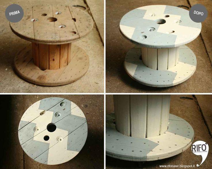 Da una bobina per cavi---> a un tavolino da fumo