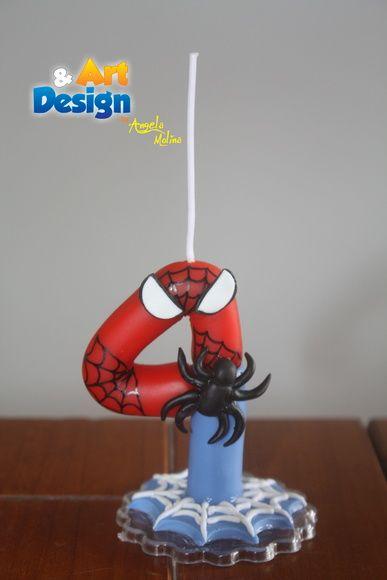 Vela mágica biscuit Homem Aranha