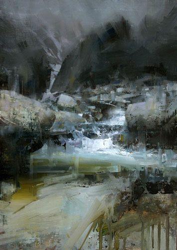 """[Tibor Nagy (Male, Slovakia)/   """"After the Rain""""/ Oil -  18"""" x 12""""] ...   Smoldering & a bit eerie"""