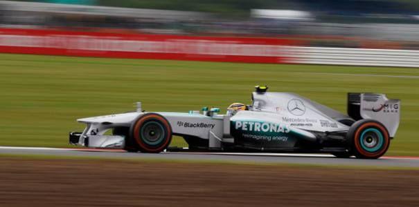 Lewis Hamilton @ the 2013 SIlverstone F1 GP Pracice