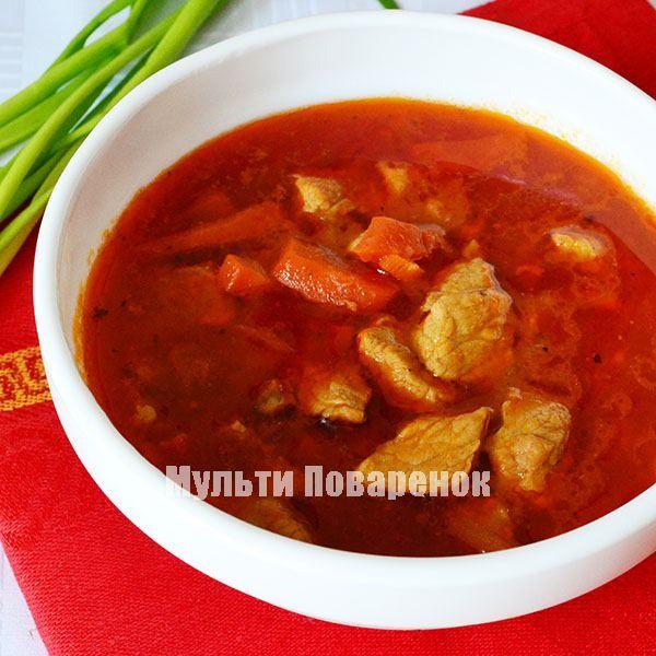 Тушеная свинина в мультиварке: рецепт в томатном соусе | Мультиповаренок