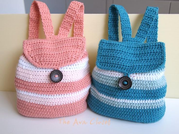 Toddler Backpack = Awesome! Crochet Pinterest