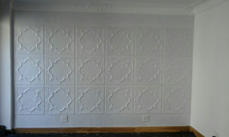 Ceiling panels on the contrast wall of a study