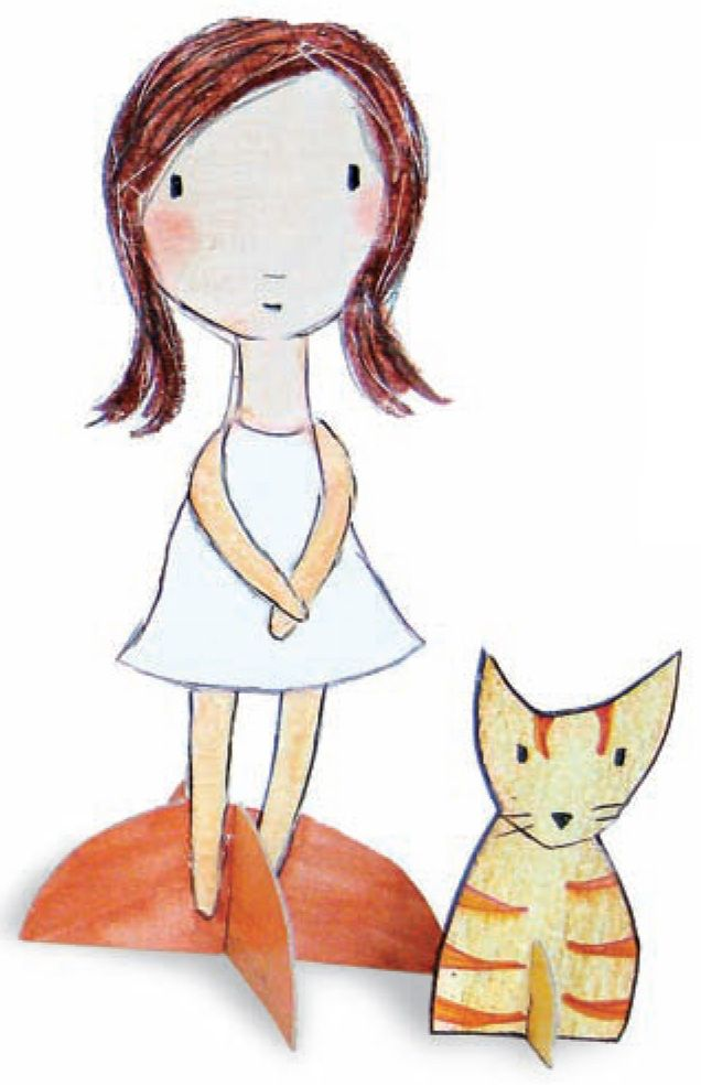 paper doll tutorial from Carla Sonheim...I tried it out yesterday, and they turned out pretty cute!