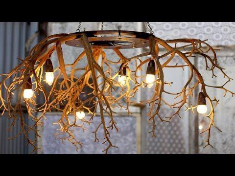 Лампа из веток от Натальи Скобкиной - YouTube