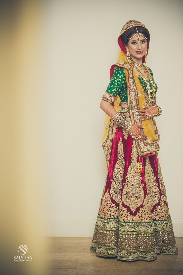 Indian wedding dress, colorful lehenga, Desi Weddings Check out more desings at: http://www.mehndiequalshenna.com/