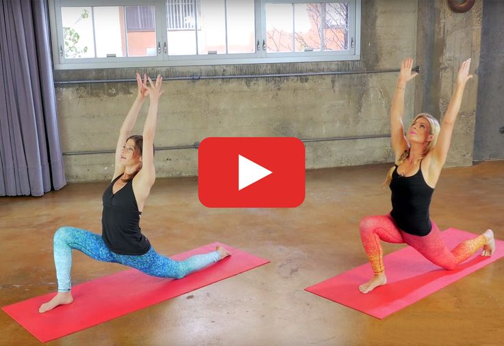 It's like two workouts for the price of one. #yoga #bodyweight #strength #training #workout #video http://greatist.com/move/home-workouts-yoga-meets-bodyweight-routine
