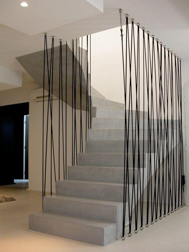 Escalier garde-corde