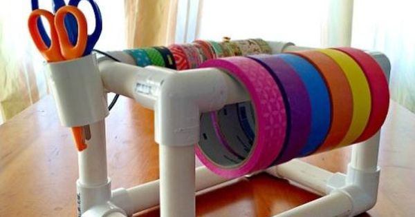 Como Fazer um Organizador com Tubos de PVC | Mesas, Atelier and Organizers