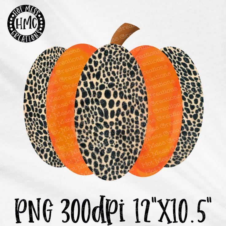 Leopard, Orange Watercolor Pumpkin Pumpkin png, Hot mess