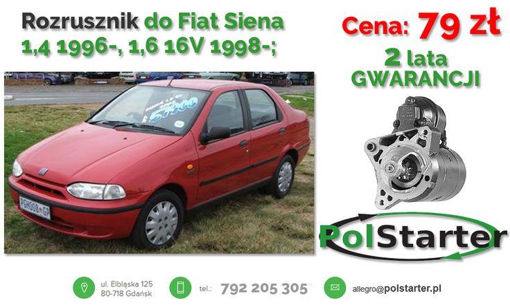 ⚫ Rozrusznik do Fiata Sieny jest dostępny w niesamowicie niskiej, promocyjnej cenie na naszej aukcji Allegro. Jeśli potrzebujesz części zamiennych do Twojego samochodu, nie zwlekaj❗ 🚗🚕🚙🚌🏎🚓🚑🚒🚐🚚🚜🚖🚘🚍🚔  ⚫ Aukcja z rozrusznikiem w promocyjnej cenie:  ➜ http://allegro.pl/rozrusznik-citroen-jumpy-fiat-brava-punto-palio-i6686530829.html  ⚫ KONTAKT: 📲 792 205 305 ✉ allegro@polstarter.pl  #rozrusznik #fiatsiena #tanieautoczęści