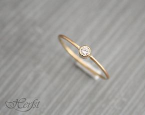 14k Diamond solid gold ring, engagement ring, wedding ring, diamond ring, Handmade