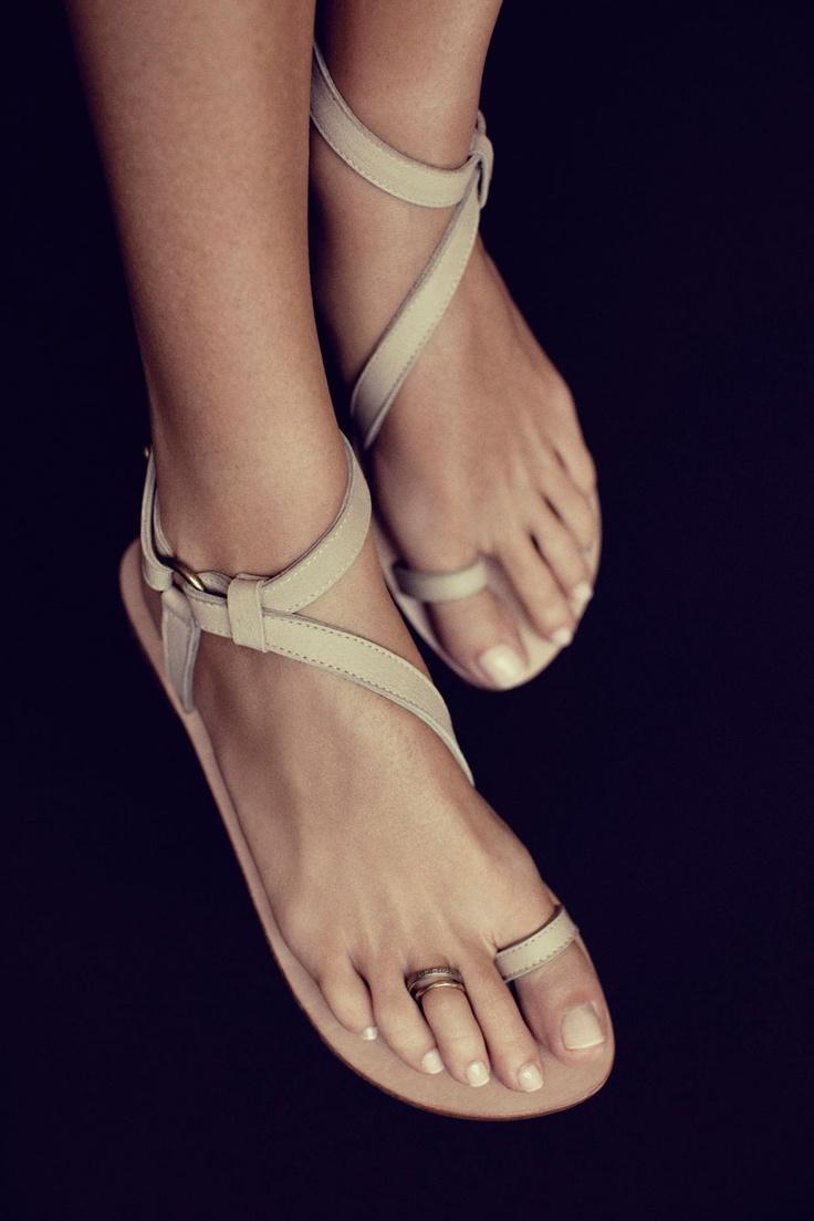 Rabens Saloner delicate flat sandals