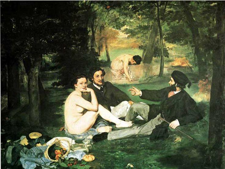 Edouard Manet – Colazione sull'erba, 1863, olio su tela, 208x264,5cm, Parigi, Musee d'Orsay.