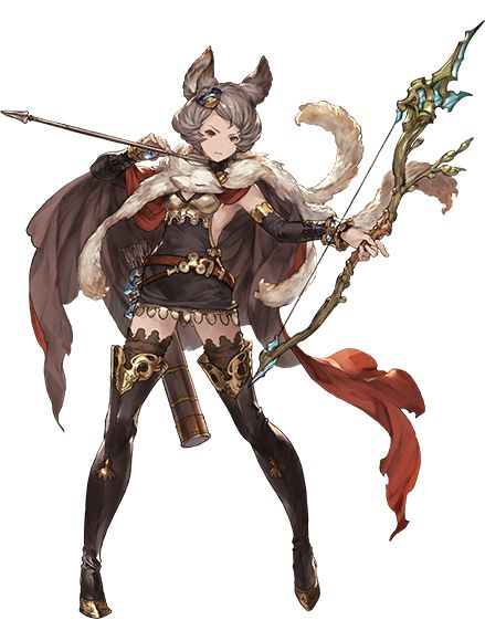 GRANBLUE FANTASY lady warrior getting ready to fight in war