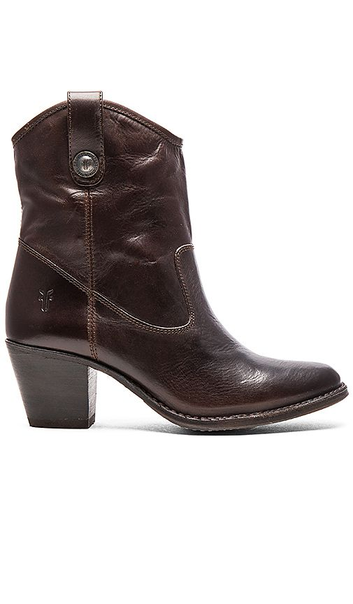 Shop for Frye Jackie Button Short Boot in Chocolate at REVOLVE. Free 2-3
