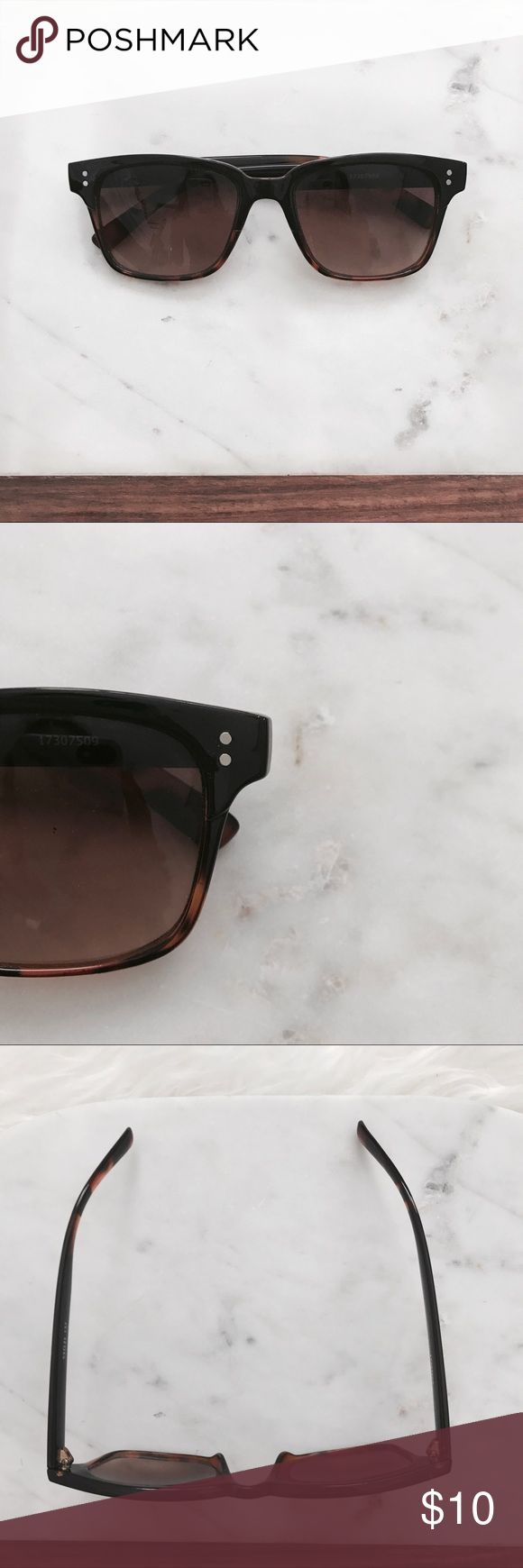 Tortoise Shell Sunglasses Chick tortoise she'll sunglasses. Super cute for everyday wear. In excellent condition! Accessories Sunglasses