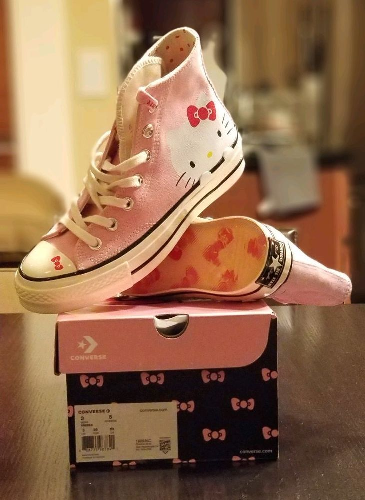 new style 4980b f0ccc Converse x Hello Kitty Chuck 70 Hi All Stars Pink 162936C Women s Sz 5 NEW  DS  fashion  clothing  shoes  accessories  womensshoes  athleticshoes (ebay  link)