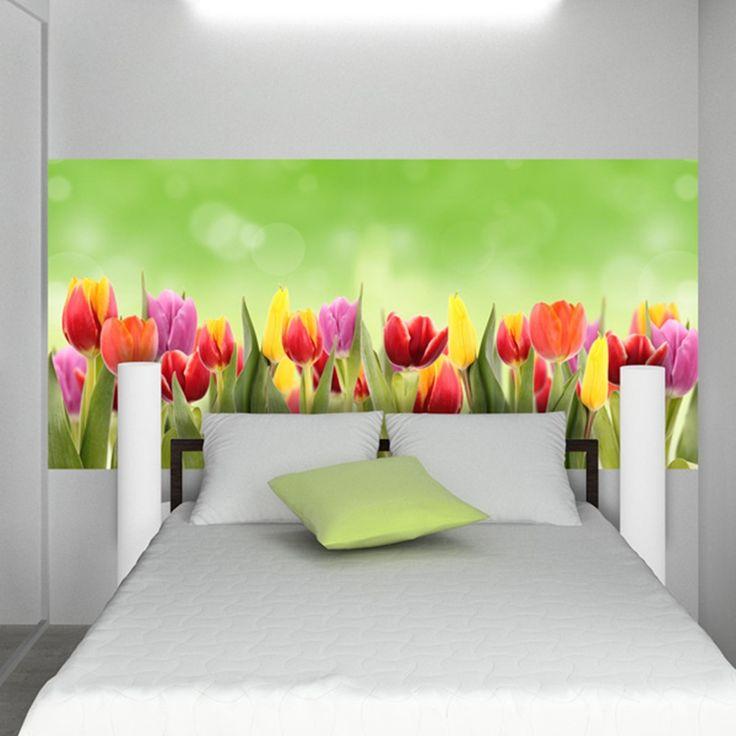 decorazione adesiva fiori tulipani