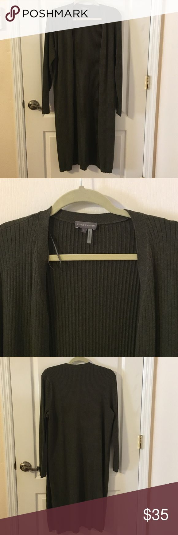 Vince Camuto Olive Green Cardigan NWOT Large Size Large Vince Camuto Cardigan Vince Camuto Sweaters Cardigans