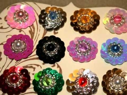 Sequin Flower Centers 4/3/11 - YouTube